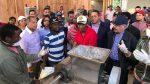 SANCHEZ RAMIREZ: Danilo supervisa construcción planta procesadora frutas