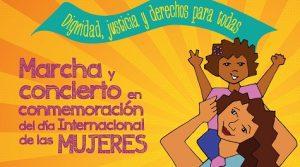 Marcha de mujeres el domingo a ritmo de merengue y música urbana