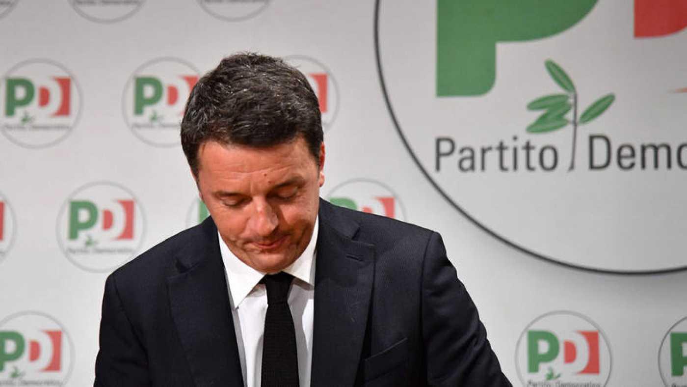 Matteo Renzi deja frente del Partido Demócrata tras la debacle electoral