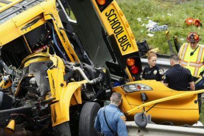 Niños heridos tras accidente con autobús escolar en Nueva Jersey