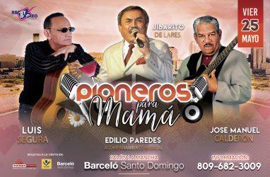 El Jibarito, Luis Segura y José Manuel Calderón cantan a las madres dominicanas