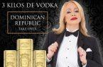 """Miriam Cruz elegida imagen marca holandesa """"3 kilos de Vodka"""""""