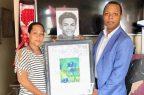 Milton Morrison visita madre Lesandro Guzmán