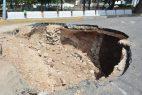 Geólogos harán estudio geofísico en la calle Meriño por hundimiento