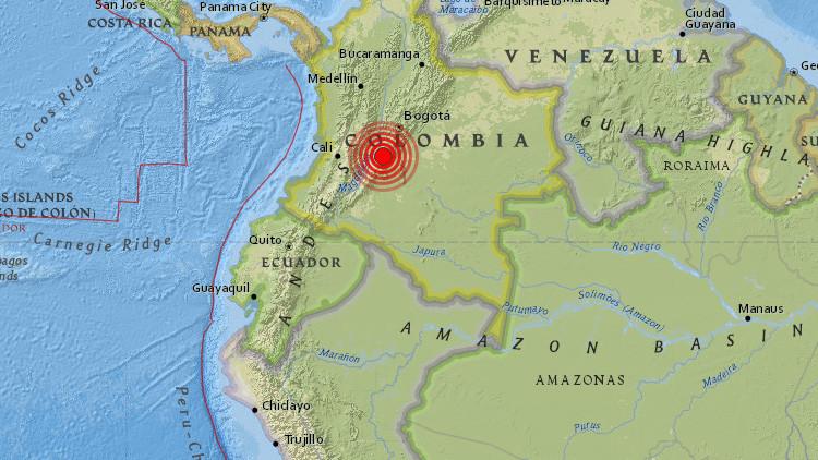 Sismo de magnitud 6.1 sacude a Colombia