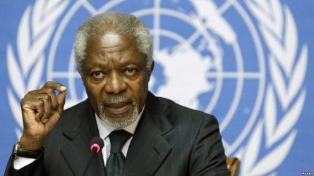 Muere exsecretario general de la ONU Kofi Annan a los 80 años