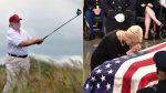 Trump se va a campo de golf durante ceremonia por McCain