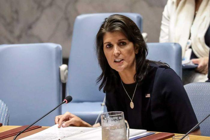 La embajadora de EE.UU. ante la ONU, Nikki Haley, acusa a Rusia de ayudar a Corea del Norte a evadir sanciones