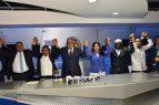 Miguel Vargas recibe en el PRD a ex legisladores abandonaron el PRM