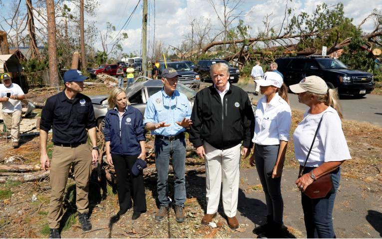 EEUU: Trump queda impactado por daño huracán Michael en Florida