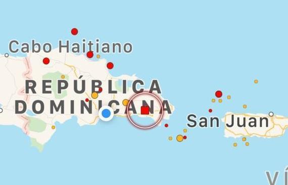 Temblor de 4.2 grados sacude hoy  zonas de la República Dominicana