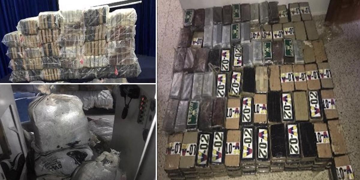 Incautan 2.667 kilos cocaína colombiana en  República Dominicana y El Salvador
