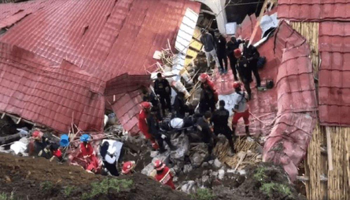 PERU: Derrumbe donde celebraba boda en hotel deja 15 muertos