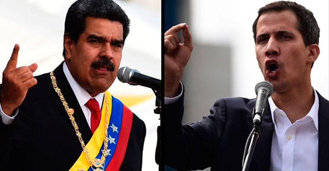 Partidarios de Maduro y Juan Guaidó se verán frente a frente el mismo día