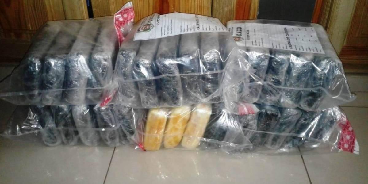 La DNCD y MP decomisan 28 paquetes de cocaína en el Puerto Multimodal Caucedo