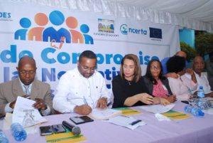 Alcaldia SDN firma acuerdo con Consejo Económico Social velar por prioridades
