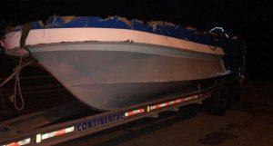 Lancha recuperada por la Armada trajo 707 kilos cocaína el pasado lunes
