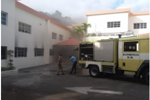 Evacuan personal Superintendencia de  Valores tras fuego en una de sus áreas