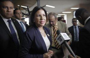 ¡Así no mi querido Frank!, dice Margarita Cedeño al aspirante Domínguez Brito