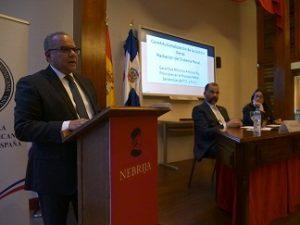 ESPAÑA: Moscoso Segarra destaca avances sistema penal dominicano