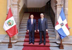 Canciller República Dominicana suscribe tres acuerdos con Perú