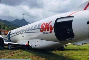 DOMINICA: Avión dominicano sufre accidente; no hay muertos