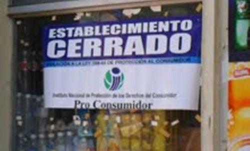 Pro Consumidor cerró 35 locales de alimentación por insalubridad y plagas