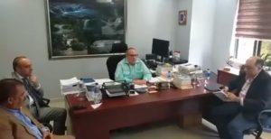 Siete senadores danilistas se reunieron este lunes en la oficina de Mariotti