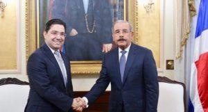 Presidente dominicano y el canciller de Marruecos tratan sobre turismo y energía