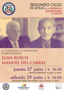 ITALIA: Consulado en Milano anuncia evento ciclo de letras de RD