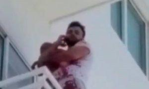 Hombre se lanza del quinto piso de un edificio con un bebé de menos de un año