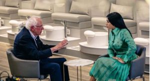 EU: Bernie Sanders graba video con dominicana Cardi B para su campaña