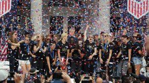 Nueva York recibe por todo lo alto a las campeonas mundiales de fútbol