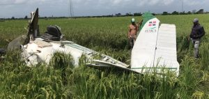 SFM: Muere piloto de avioneta que se estrelló en la comunidad Los Rieles