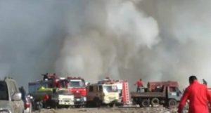 MOCA: Autoridades llevan cuatro días sofocando fuego en vertedero