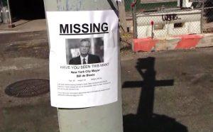 "Declaran ""persona desaparecida"" al alcalde Bill de Blasio"