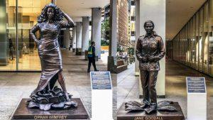 Develan estatuas de mujeres famosas en Nueva York