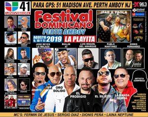 Festival Dominicano de Perth Amboy con 25 artistas