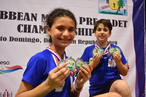 Muñoz y Vila se destacan en el Campeonato del Caribe Tenis de Mesa