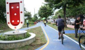 Alcaldía de Santiago abre una vía ciclística de 2 kilómetros en avenida