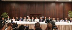 Miembros del Comité Político del PLD ofrecen su total apoyo a Castillo