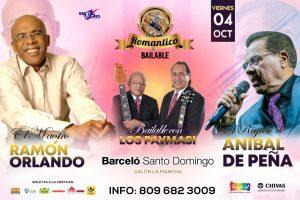 """Fiesta concierto """"Romántico & Bailable"""" para el 4 de octubre"""