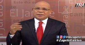 Zapete denuncia excluyeron su programa de Teleradio América