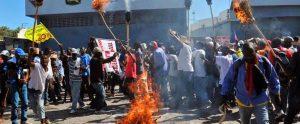 Gobierno de Haití condena violencia en protestas por combustible