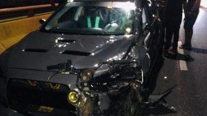 Un hombre muerto y mujer herida en accidente en el elevado de Santiago