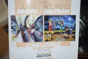 Inauguran exposición pintores Juan Bravo y RodrigoBeltrán