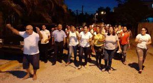 Residentes en Villa Olímpica reclaman arreglo de sus calles