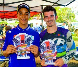 Mora y Schockganan en motocross de San Juan