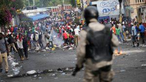 Oposición de Haití organiza protesta cerca de residencia presidencial