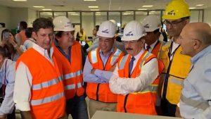 Presidente Medina visita Punta Catalina; deja sincronizadas dos unidades